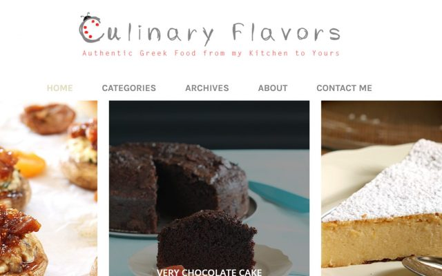 culinary home page after